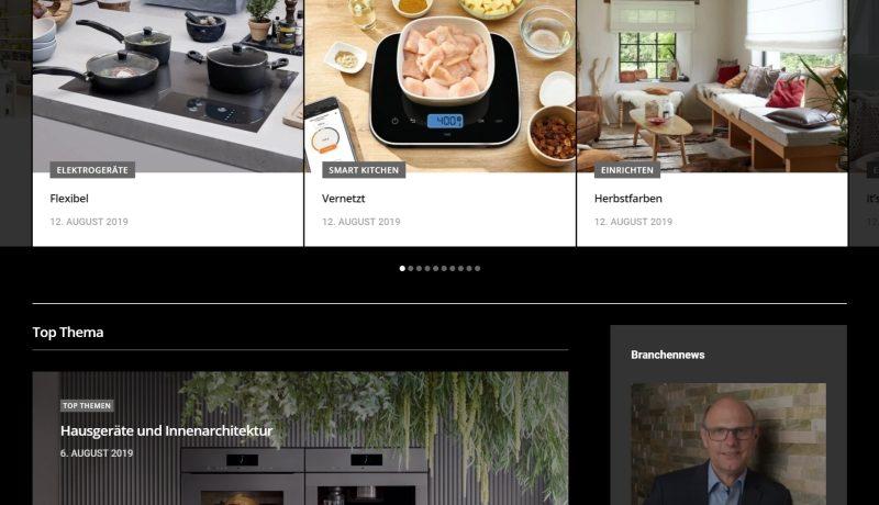 Neues Internetangebot küche + architektur
